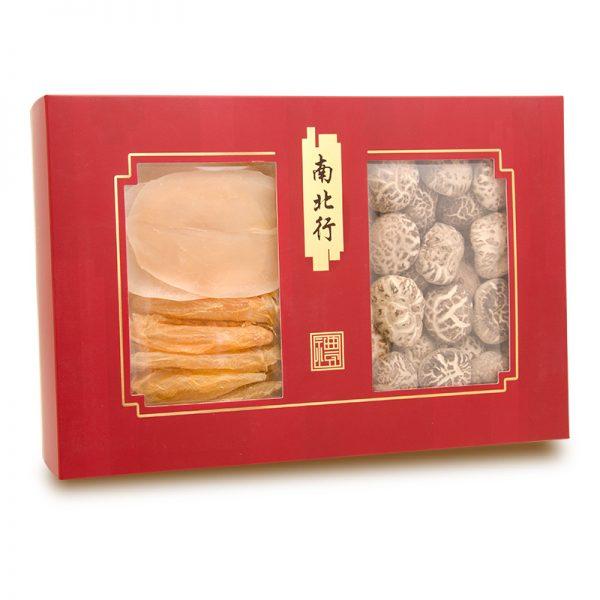 南北行花菇150克+螺片60克+花膠20克禮盒